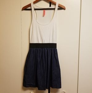 Eight Sixty Pocketed Colorblock Tank Dress